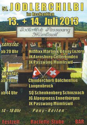 51. Jodlerchilbi im Reckenkien - Jodlerklub Passwang Mümliswil