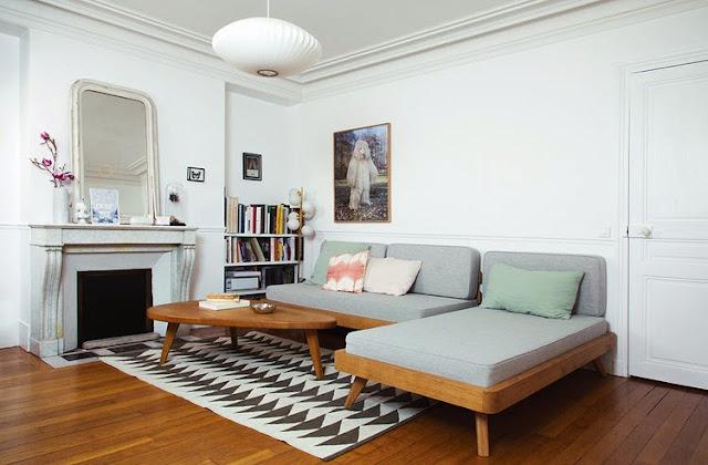 Einrichten und Wohnen zwischen Mid-Century Design und Moderne in Paris