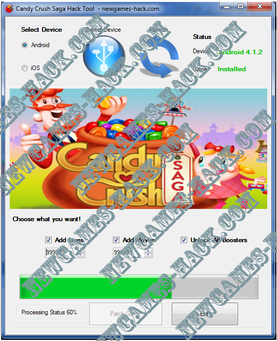 Candy Crush Saga Hack Tool – Android and iOS