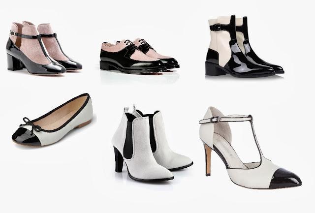 Schwarz/weißer Schuh-Trend