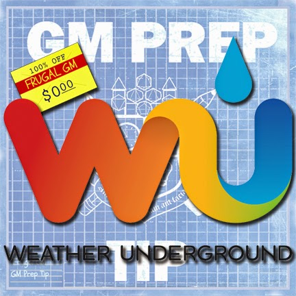 Free GM Resource: Weather Underground