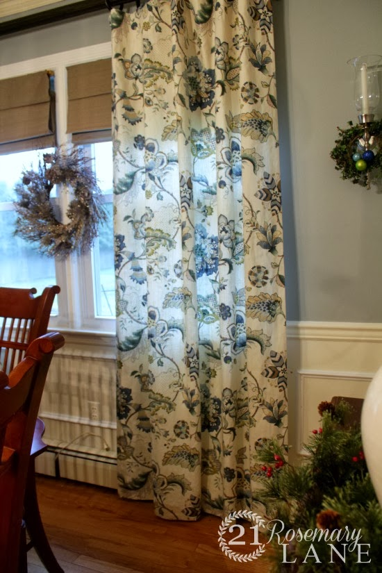 The Windows Were Also Treated To New Jacobean Floral Drapes From Country Curtains