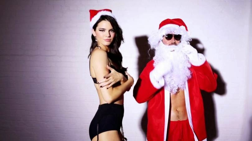 Kendall Jenner Love Magazines Christmas Photoshoot