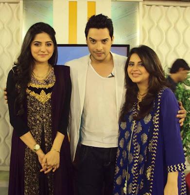 Sanam Baloch With Kanwar Arslan And Fatima Effendi in Subha Sawre Samaa