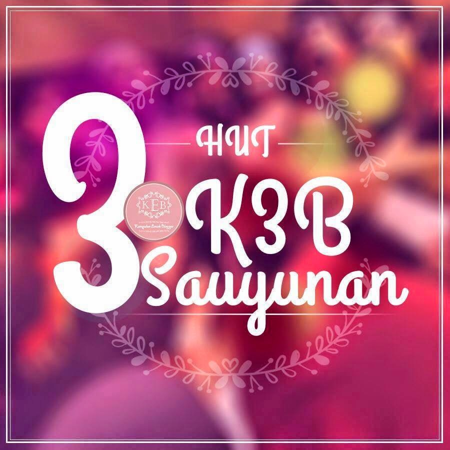 Selamat Ulang Tahun KEB  #K3B Sauyunan