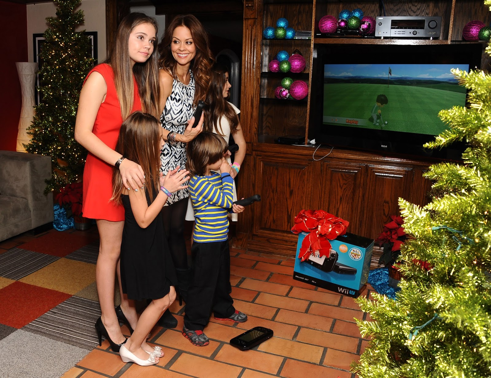 Brooke Burke Charvet Received the Gift of Family with Wii U