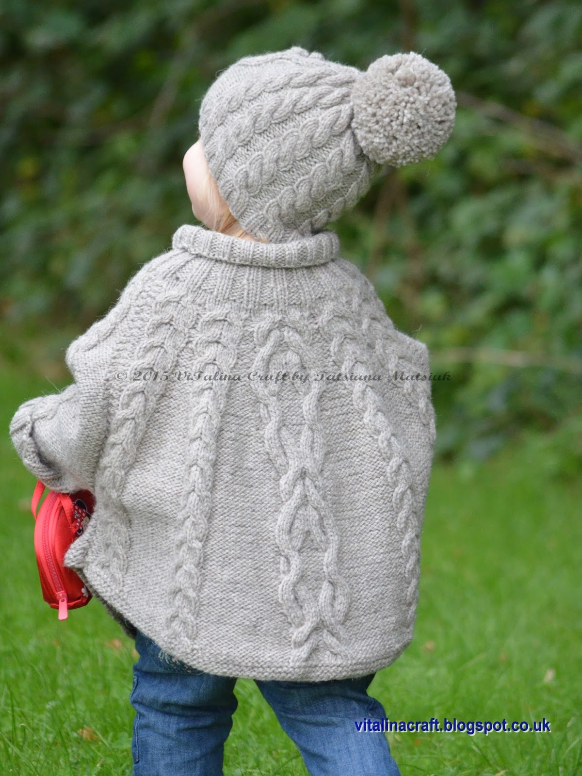 Knitting Pattern - Temptation Poncho and Hat Set (Toddler and Child sizes) ...