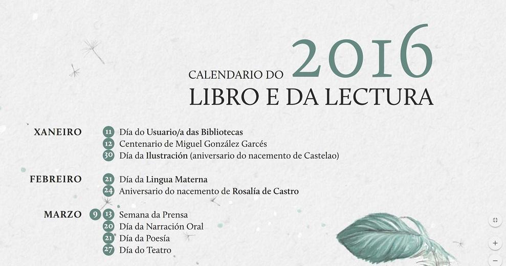 Calendario do libro e da lectura