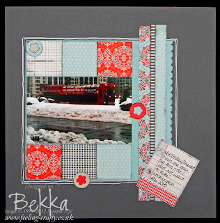 Lovely Winter Scrapbook Page featuring the Tickets and Tags Scrapbooking Kit from Stampin' Up! by Bekka www.feeling-crafty.co.uk  buy Stampin' Up! there.
