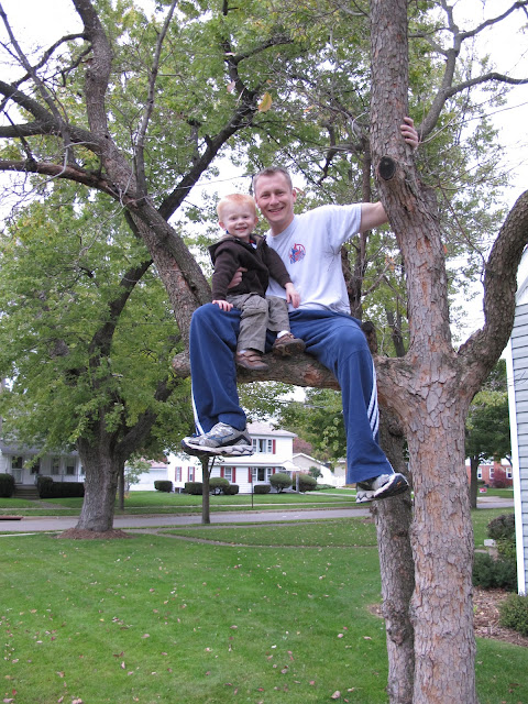 Porter & Daddy Sitting in a Tree