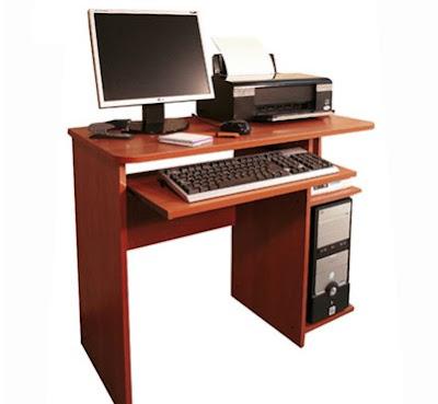 Mesas funcionales para pc en cedro varios modelos for Diseno de mesa para computadora