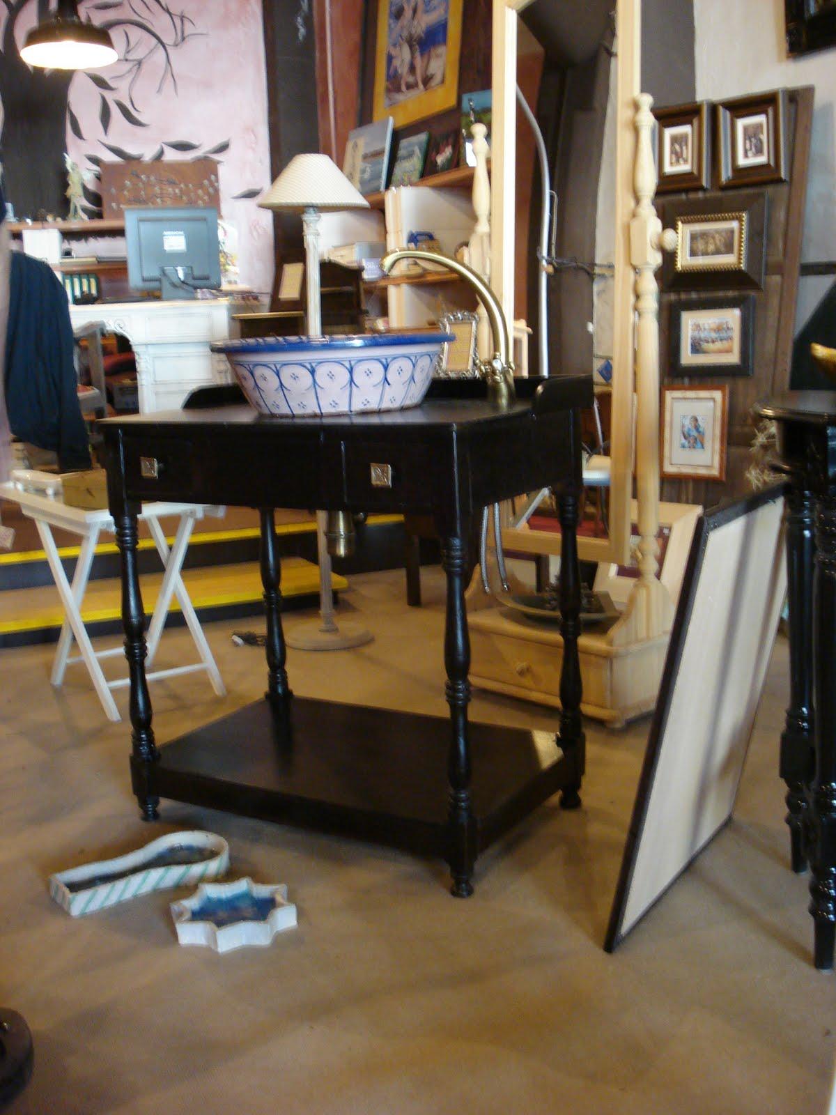 Hechoamano mueble de ba o antiguo restaurado - Mueble de bano antiguo ...