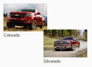 2015 Chevrolet Colorado and Silverado