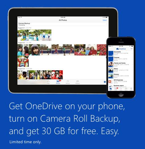 OneDrive Extra 15GB Storage