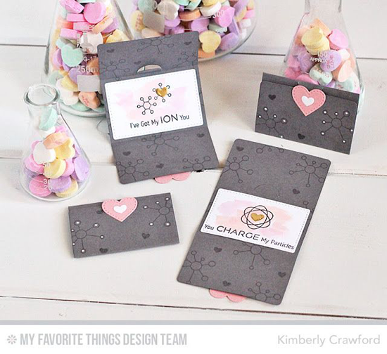 Chemistry Mini Notes by Kimberly Crawford featuring the Laina Lamb Design Undeniable Chemistry stamp set and the Stitched Heart STAX, Lisa Johnson Designs Mini Note, and Laina Lamb Design Chemistry Set Die-namics#mftstamps