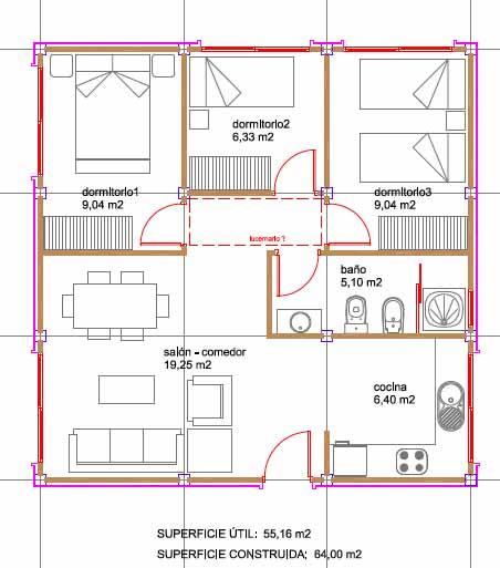 Futuria home nos presenta sus nuevas casas modulares for Planos de oficinas con medidas