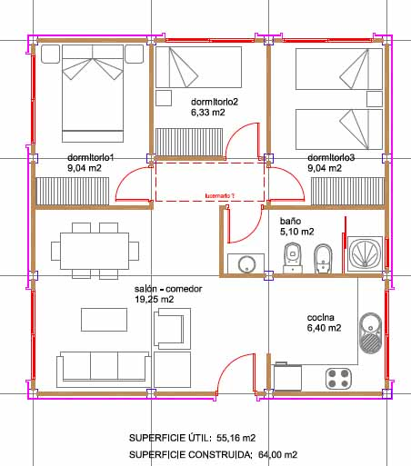 Futuria home nos presenta sus nuevas casas modulares for Planos de casas 90m2