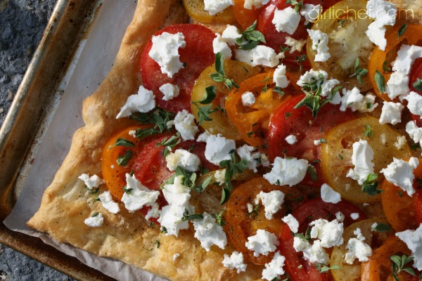 "Tomato Goat Cheese Tart in ""13 Would-Be Blog Posts of 2013"" at www.girlichef.com"