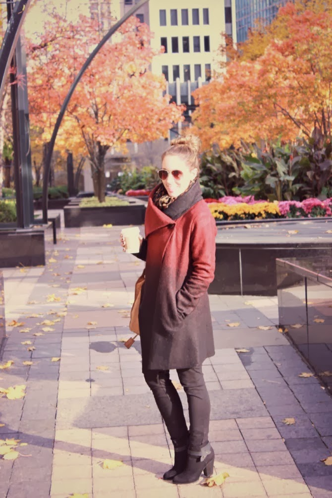 fall fashion, outfit post, fashion blogger, cold weather style, Chicago fashion, Chicago style, BB Dakota jacket, Forever 21 booties, J Crew Pixie pants, Michael Kors Hamilton Tote