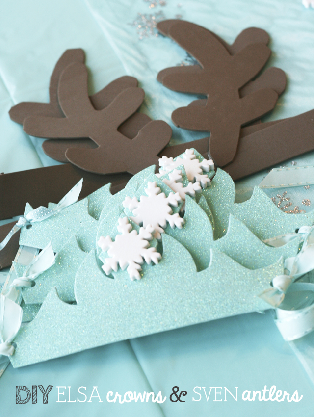 CLICK HERE for the templates we used to make the crowns and antlers
