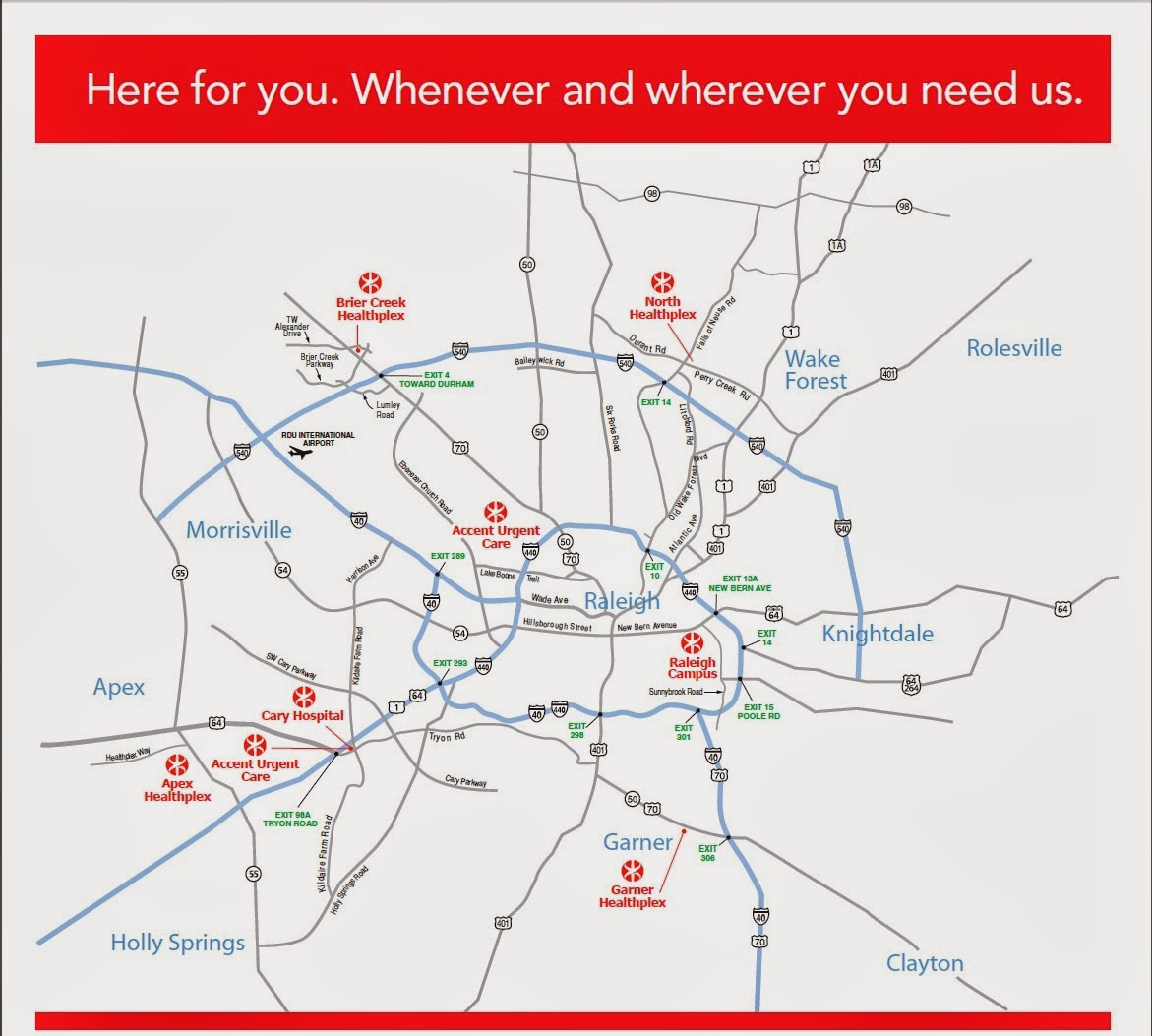 wakemed emergency and urgent care locations
