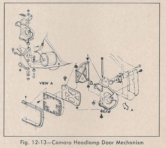 67 camaro headlight door wiring diagram   39 wiring