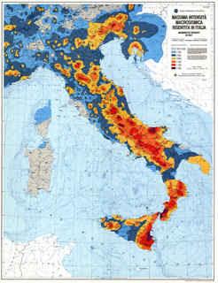 Carta sismica Italia, terremoti in Italia, le zone più pericolose, zone sismiche italiane
