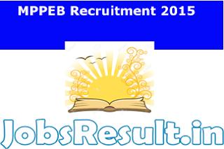 MPPEB Recruitment 2015