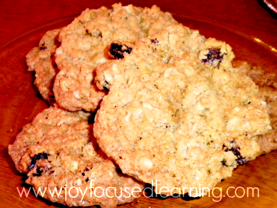 Oatmeal Cookies - Tea Party Tuesday joyfocusedlearning.com #kidsfood