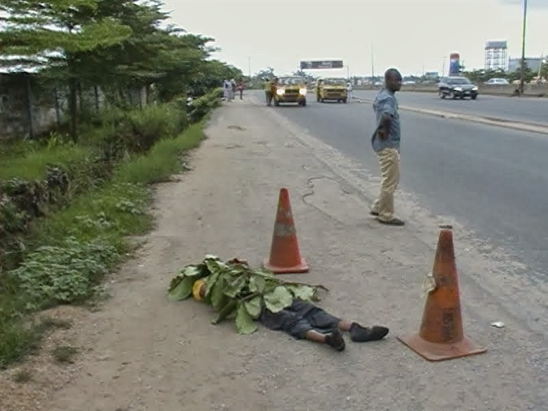 nigeria news service online  breaking   young man killed by car accident today in lagos  see