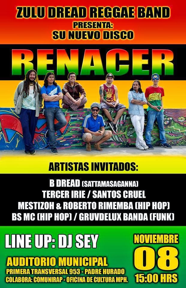 Zulu Dread Reggae Presenta RENACER 2014