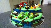 Atylla's Angry Bird Cake