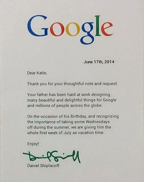 a letter to google
