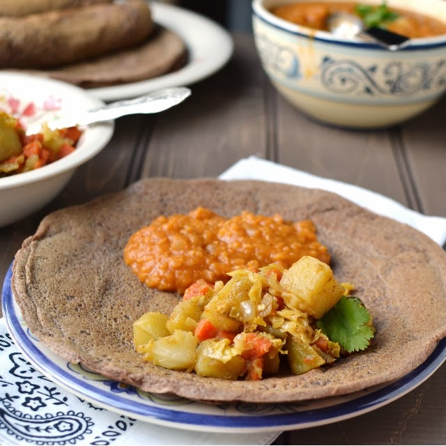Tikel Gomen (Ethiopian Cabbage, Carrots & Potatoes)
