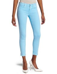 7 for all mankind womens crop skinny jean neon blue