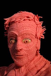 gum sculpture male bust