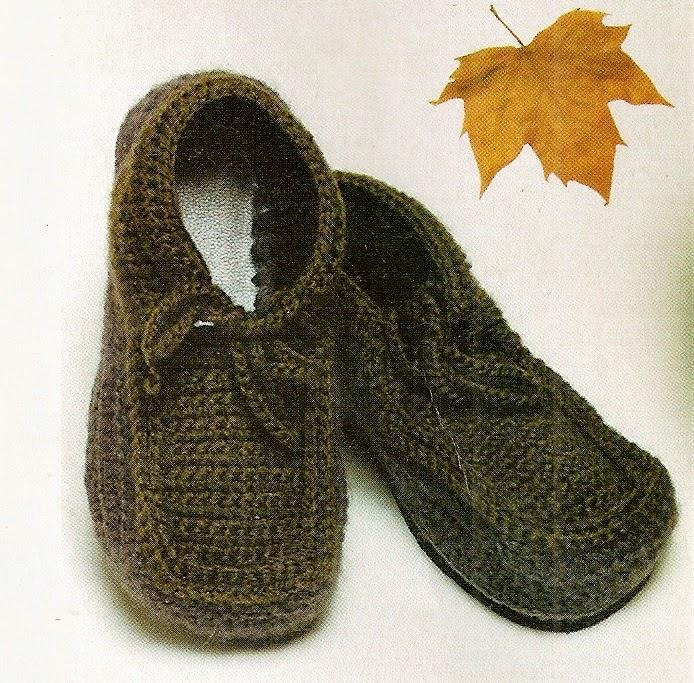 sapatos em croche masculino em croche com receita
