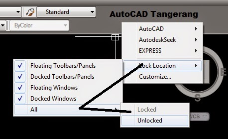 Trik Cara Mengunci Toolbar AutoCAD.