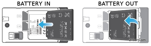 Assemble Insert Remove Battery Sony Xperia E dual C1605 C1604