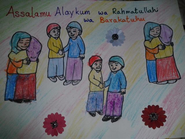Sowing the seeds of iman day 2 allahs creation i made the kids repeat the islamic greeting assalamu alaikum wa rahmatullahi wa barakatahu and the reply to the greeting wa alaikum assalam wa m4hsunfo
