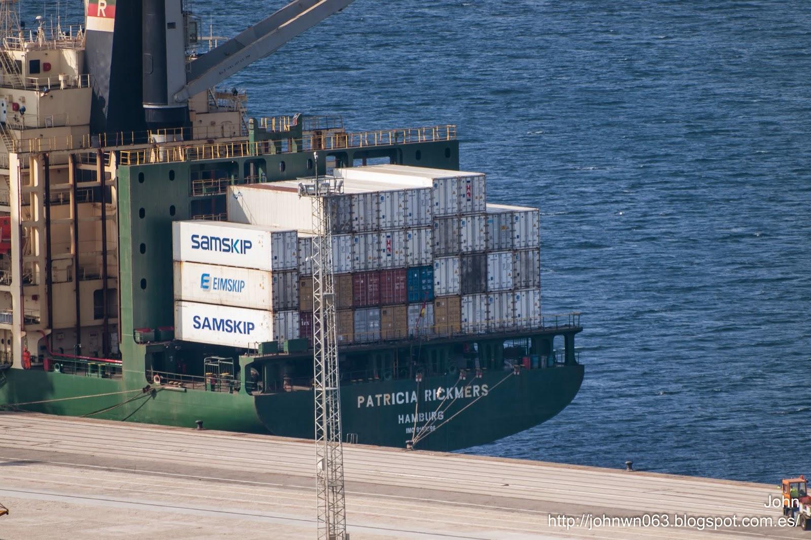 fotos de barcos, container ship, patricia rickmers, rickmers group, imagenes de barcos