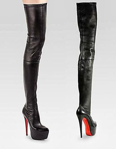 christian louboutin thigh high boots