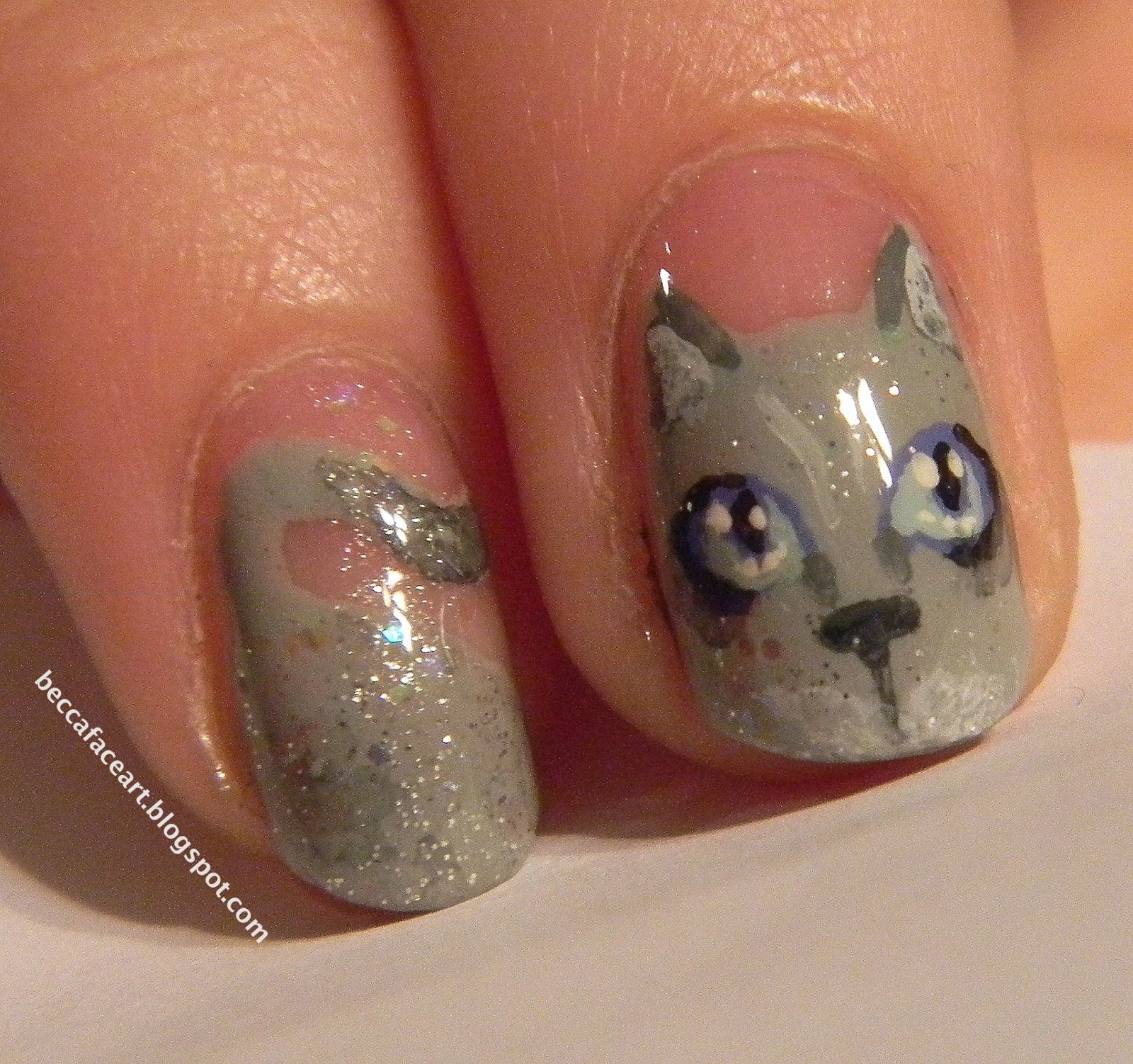 Becca Face Nail Art: Cat Nails