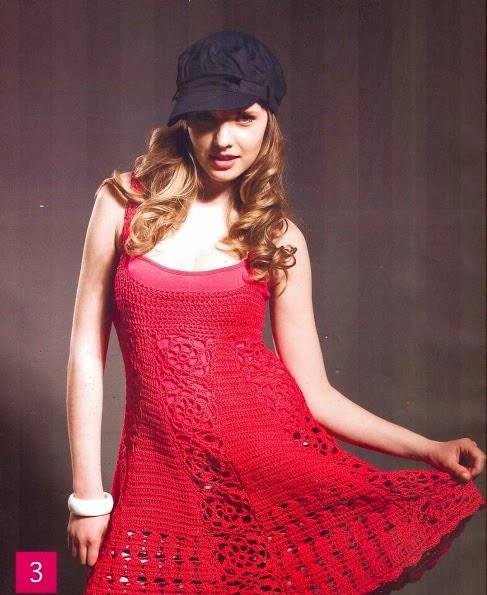 Vestido Rojo a Crochet