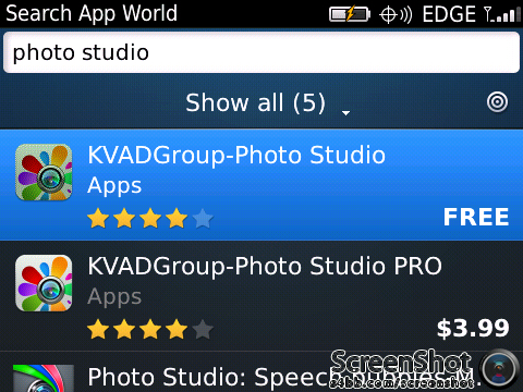 Photo Studio, Aplikasi Edit Foto Untuk Blackberry
