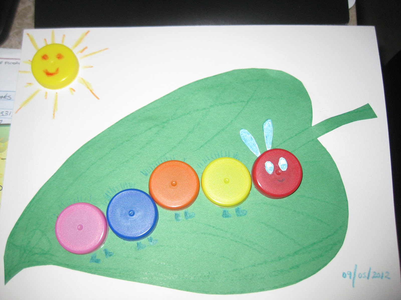 One little pea the very hungry caterpillar toddler for Caterpillar crafts for preschoolers