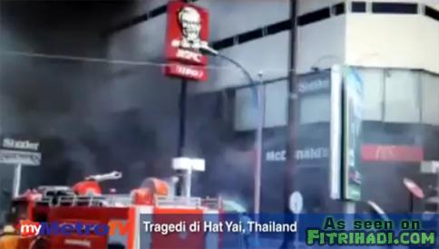 Video Keadaan Selepas Letupan Bom Di Hat Yai Thailand