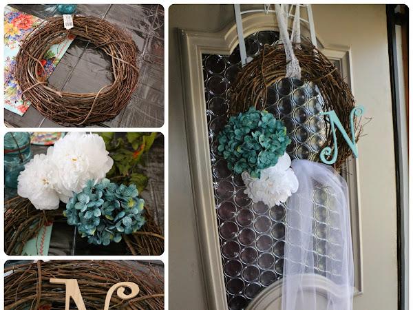 Wedding Veil Wreath DIY for Bridal Shower