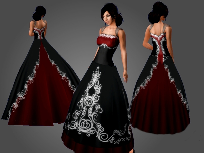 Wedding Dresses White Red And Black 52