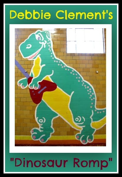 "Dinosaur Mural (Rock and Roll) for ""Dinosaur Romp"" by Debbie Clement"